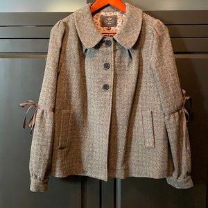 NWOT Tocca Wool Swing Jacket Coat Size 4